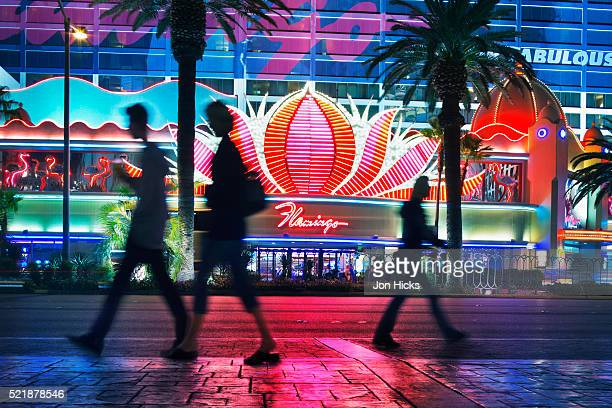Las Vegas Boulevard at night.