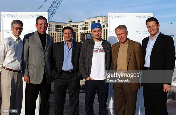 Las Vegas Commissioner Rory Reid former Governor Bob Miller Developer Andrew Sasson Leonardo DiCaprio Senator Harry Reid and Developer Laurence...