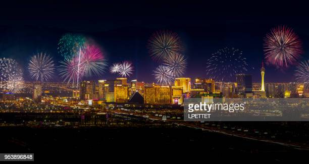 las vegas fireworks - fireworks stock pictures, royalty-free photos & images