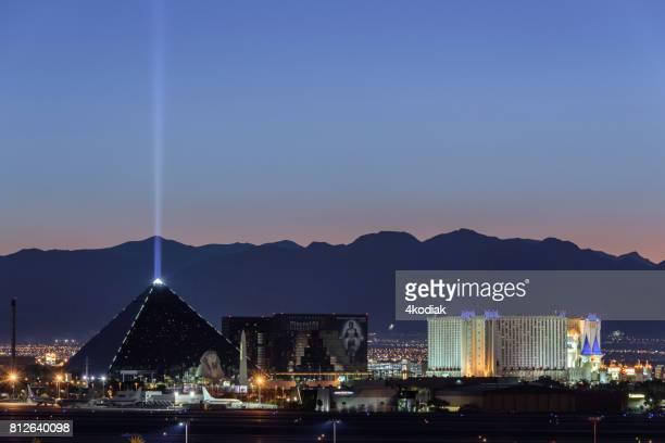 Las Vegas Hotel Casino Buildings after sunset
