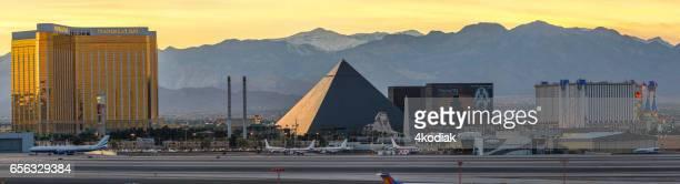 Las Vegas Hotel Casino Buildings Panorama at sunset