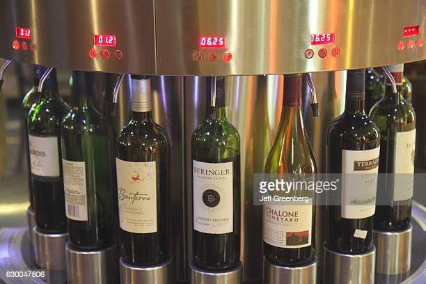 Las Vegas Hotel & Casino, wine bottles dispenser.