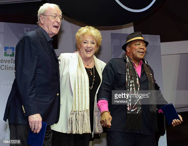 Las Vegas Mayor Carolyn G Goodman presents film and music luminaries Sir Michael Caine and Quincy Jones with a key to the City in celebration of...