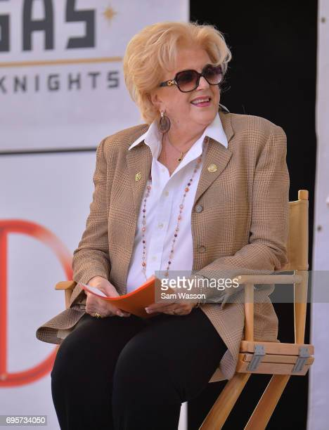 Las Vegas Mayor Carolyn Goodman attends an announcement at the Fremont Street Experience on June 13 2017 in Las Vegas Nevada The Vegas Golden Knights...
