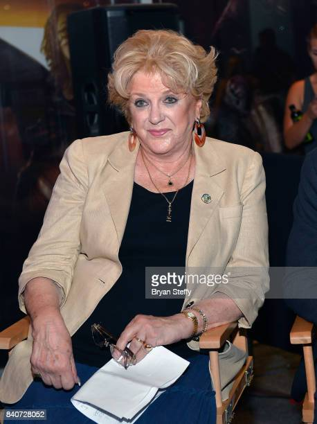 Las Vegas Mayor Carolyn Goodman attends the grand opening of the Fear the Walking Dead Survival attraction at the Fremont Street Experience on August...