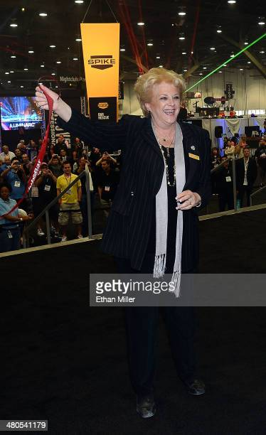 Las Vegas Mayor Carolyn Goodman attends the ribbon cutting event to mark the floor opening of the 29th annual Nightclub Bar Convention and Trade Show...
