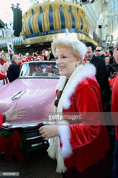 Las Vegas Mayor Carolyn Goodman attnends the 10th annual Las Vegas Great Santa Run benefiting Opportunity Village at the Fremont Street Experience on...