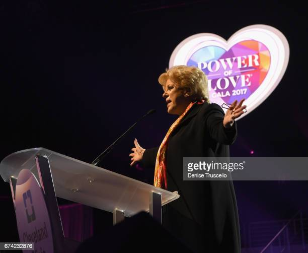 Las Vegas Mayor Carolyn Goodman speaks during the 21st annual Keep Memory Alive Power of Love Gala benefit for the Cleveland Clinic Lou Ruvo Center...