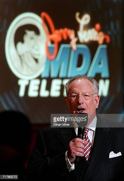 Las Vegas Mayor Oscar Goodman speaks during the 41st annual Labor Day Telethon to benefit the Muscular Dystrophy Association at the South Coast Hotel...