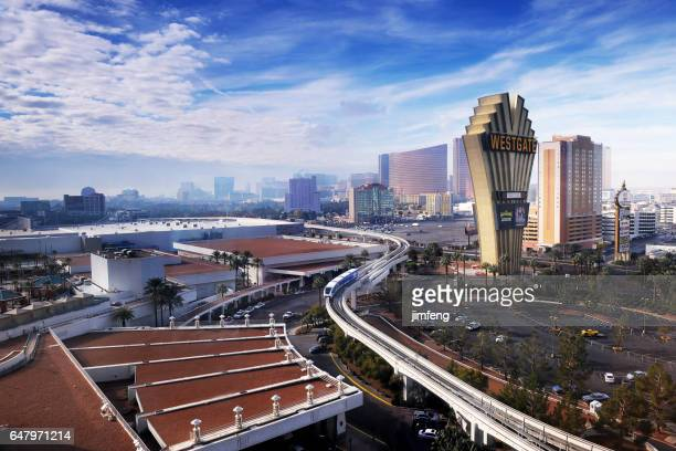 las vegas monorail - monorail stock pictures, royalty-free photos & images