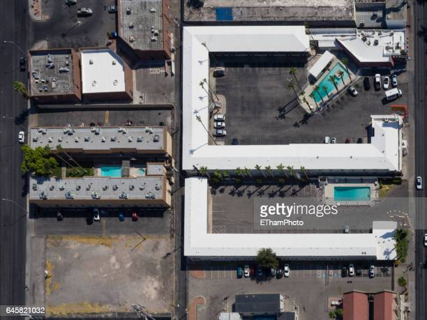 Las Vegas motels from above