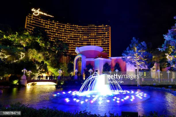 las vegas music water fountain at wynn - nevada stock pictures, royalty-free photos & images