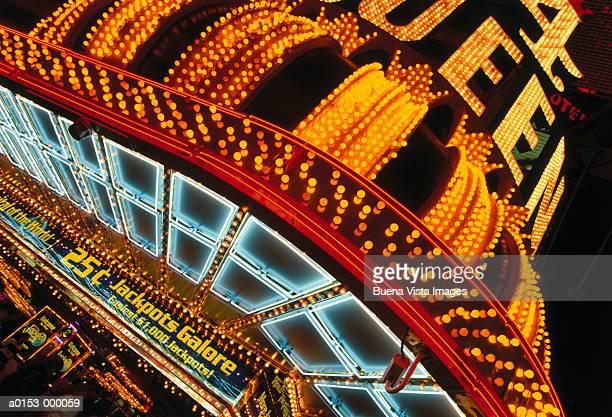 las vegas neon lights - las vegas stock pictures, royalty-free photos & images