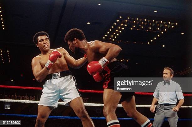 Muhammad Ali and Leon Spinks during ring action at the Las Vegas Hilton Pavilion Spinks scored one of boxing'[s greatest upsets when he captured the...