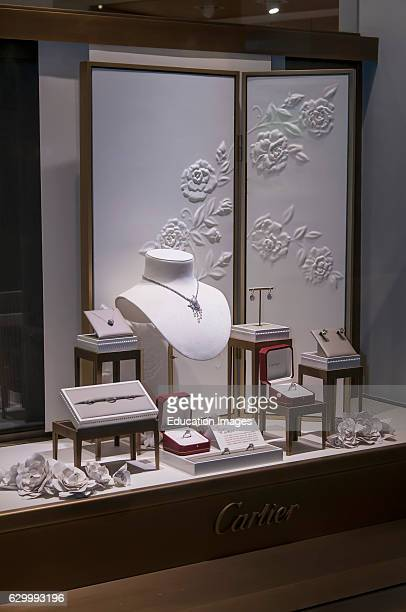 Las Vegas Nevada Cartier jewelry window display in the Crystals at City Center Shopping Mall