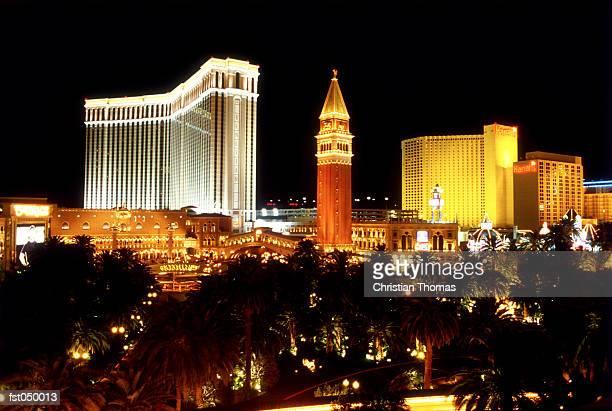 Las Vegas, Nevada, USA, Las Vegas casinos at night