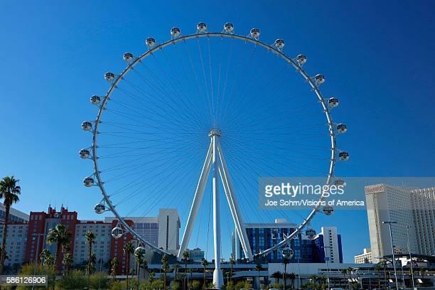 Las Vegas Nevada USA The High Roller Ferris Wheel off the Strip in Las Vegas Nevada USA