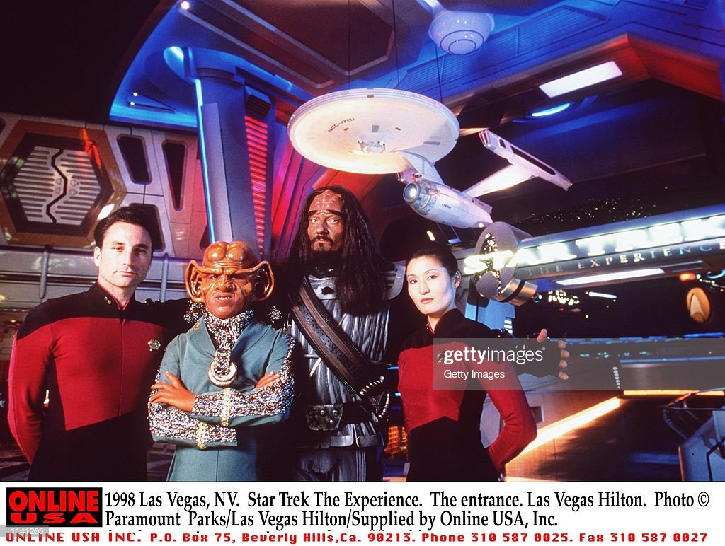 1998 Las Vegas, NV. Star Trek The Experience. The entrance. Las Vegas Hilton. Paramount Parks/Las Ve : News Photo