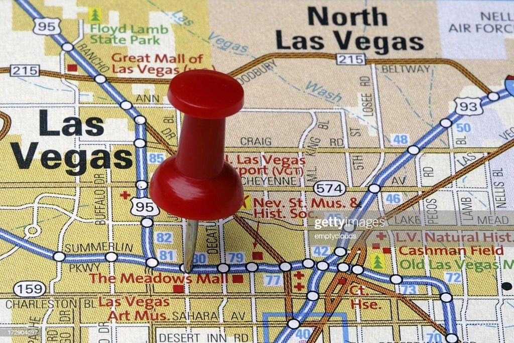 Las Vegas on a Map : Stock Photo