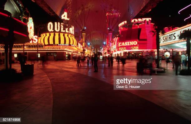 las vegas pedestrian mall - fremont street experience stock pictures, royalty-free photos & images