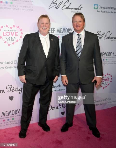 Las Vegas Raiders owner Mark Davis and Las Vegas Raiders head coach Jon Gruden attend the 24th annual Keep Memory Alive Power of Love Gala benefit...