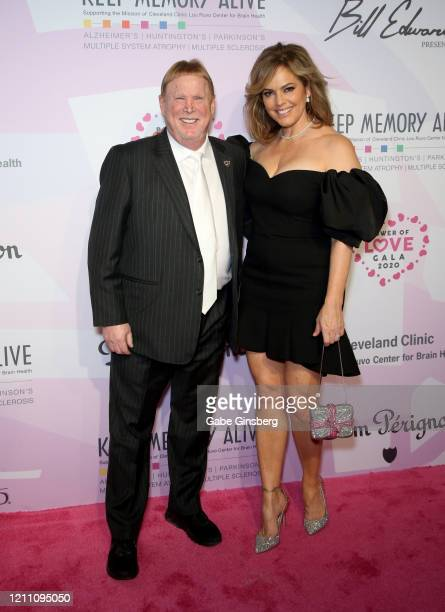 Las Vegas Raiders owner Mark Davis and model Sandra Taylor attend the 24th annual Keep Memory Alive Power of Love Gala benefit for the Cleveland...
