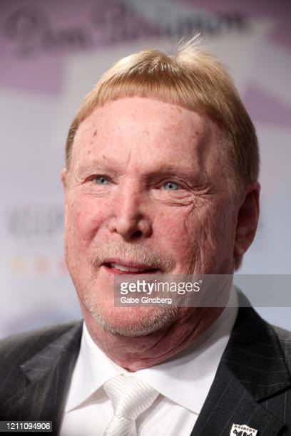Las Vegas Raiders owner Mark Davis is interviewed during the 24th annual Keep Memory Alive Power of Love Gala benefit for the Cleveland Clinic Lou...