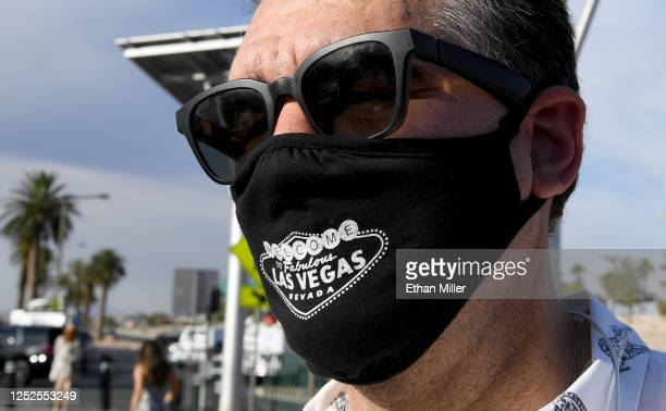 Las Vegas Review-Journal columnist John Katsilometes looks on after participating in a fashion show in front of the Welcome to Fabulous Las Vegas...