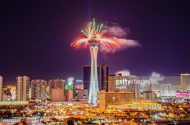 Las Vegas Rings in 2013 with Fireworks