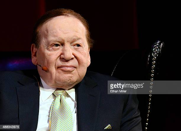 Las Vegas Sands Corp Chairman and CEO Sheldon Adelson speaks to hospitality students at UNLV on May 5 2014 in Las Vegas Nevada Las Vegas Sands...
