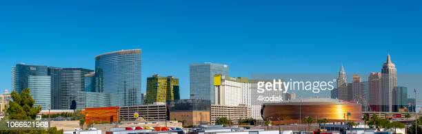 las vegas skyline - t mobile arena las vegas stock pictures, royalty-free photos & images