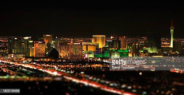 las vegas skyline - las vegas stock pictures, royalty-free photos & images