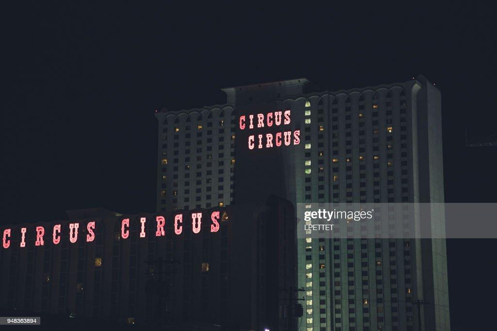 Las Vegas 94 >> Las Vegas Strip Circus Circus Stock Photo Getty Images