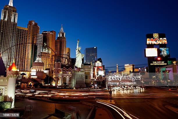 Las Vegas strip is photographed for Conde Nast Traveler Spain on May 6 2010 in Las Vegas Nevada PUBLISHED IMAGE
