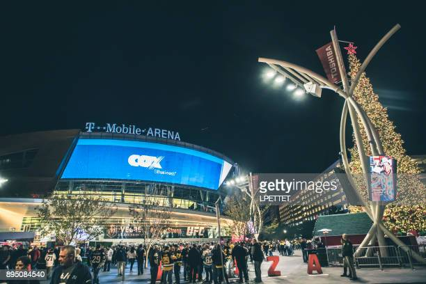 las vegas t-mobile arena - t mobile arena las vegas stock photos and pictures
