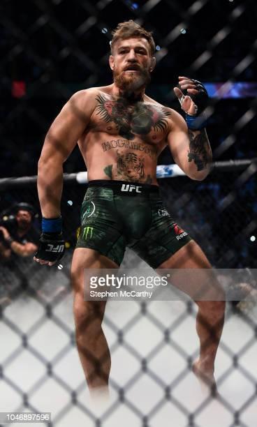 Las Vegas United States 6 October 2018 Conor McGregor prior to facing Khabib Nurmagomedov in their UFC lightweight championship fight during UFC 229...