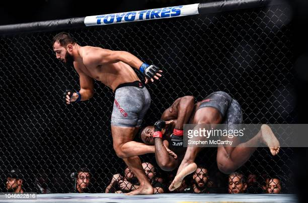 Las Vegas United States 6 October 2018 Ovince Saint Preux right in action against Dominick Reyes in their UFC light heavyweight fight during UFC 229...