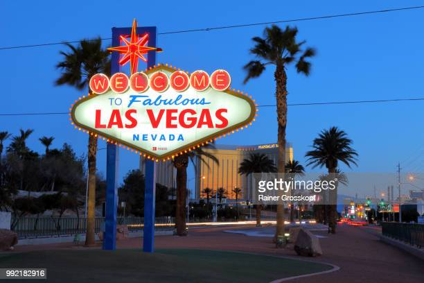 Las Vegas Welcome Sign at night