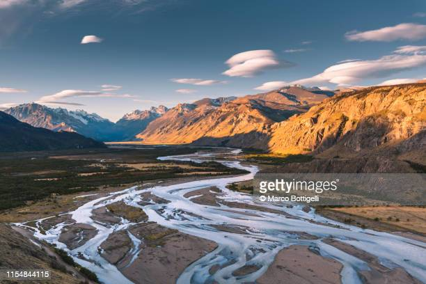 las vueltas river near el chalten, patagonia argentina - argentina stock pictures, royalty-free photos & images