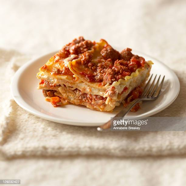 lasagna with turkey sausage - lasagna stock pictures, royalty-free photos & images