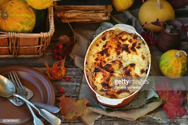 Lasagne au gratin with pumpkin