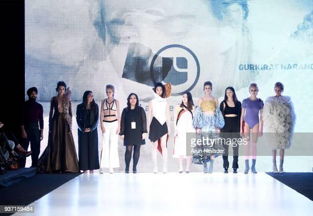 LaSalle College designers and models on the runway at 2018 Vancouver Fashion Week Day 4 on March 22 2018 in Vancouver Canada