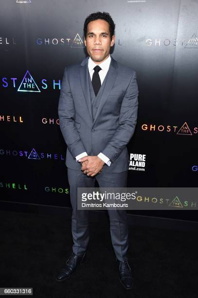 """Lasarus Ratuere attends the """"Ghost In The Shell"""" premiere hosted by Paramount Pictures & DreamWorks Pictures at AMC Lincoln Square Theater on March..."""