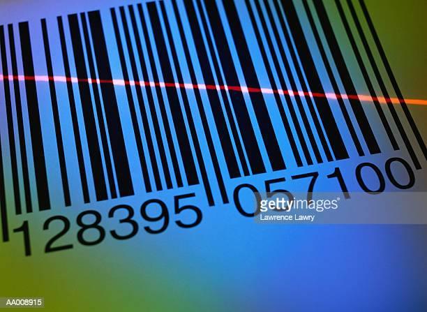 Laser Beam over a Bar Code