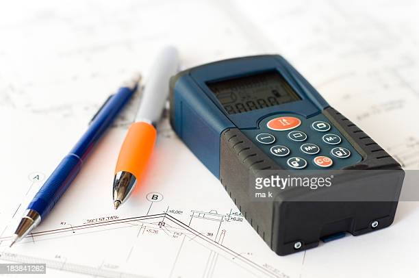 laser distance meter - instrument of measurement stock pictures, royalty-free photos & images