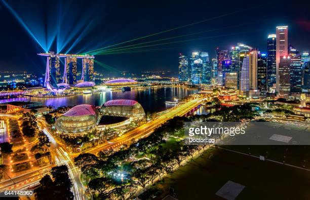 Laser Light Show at Marina Bay