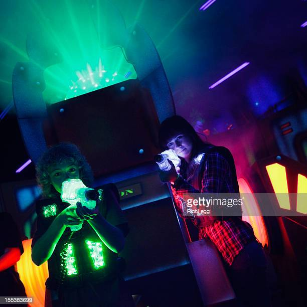 laser tag - tag game stock photos and pictures