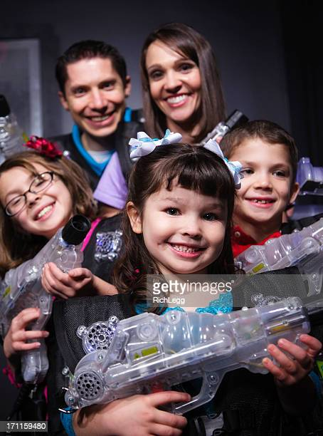 laser tag - kids playing tag stock photos and pictures
