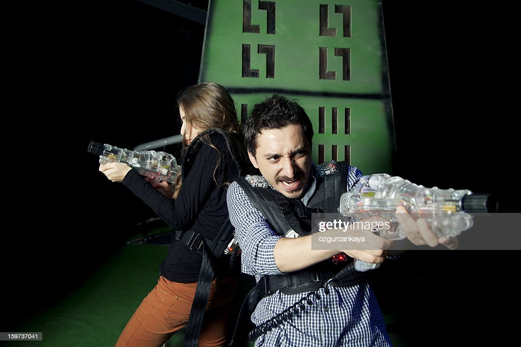 Lasertag Warriors : Stock Photo