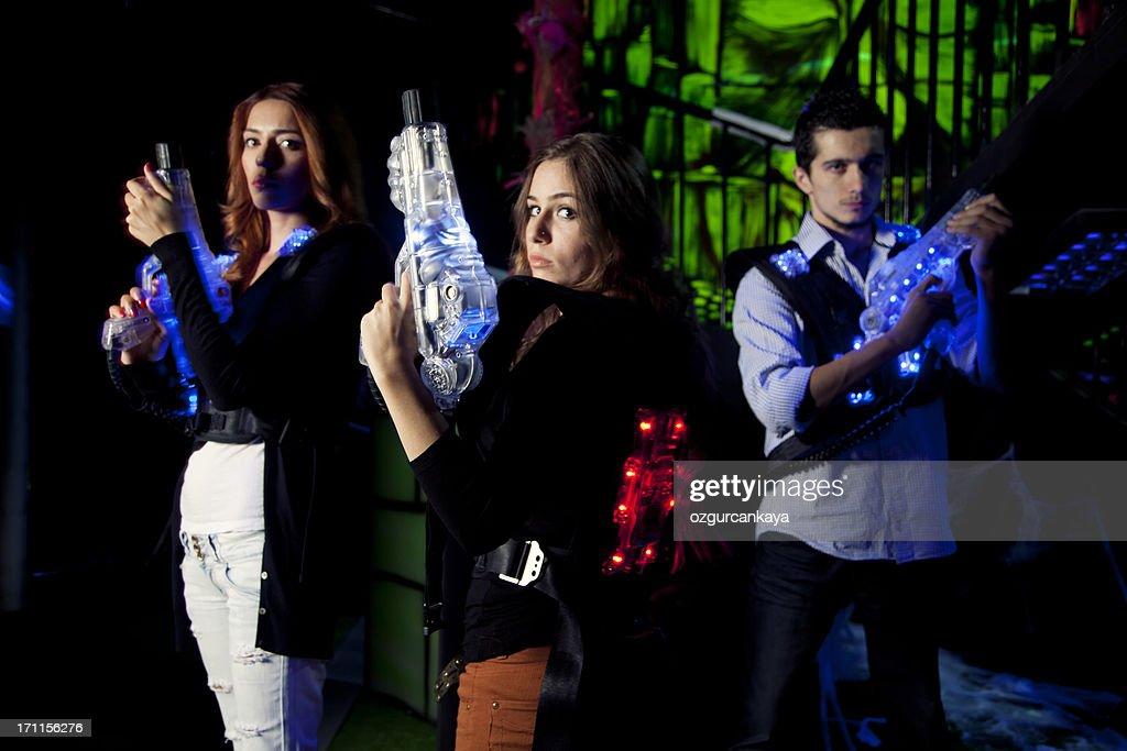 Lasertag Warriors : Stock Photo